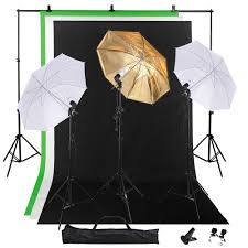studio photography lighting kit w 10 background stand 33 umbrella 5x10 backdrop