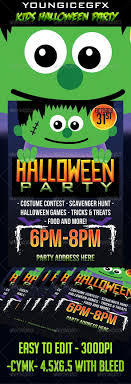 Halloween Party Flyer Kids Halloween Party Flyer Template By YOUNGICEGFX GraphicRiver 15