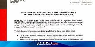 Eiger diprotes seorang youtuber sekaligus pemilik akun twitter @duniadian. Review Ini Pernyataan Resmi Eiger Soal Surat Keberatan Kepada Youtuber Surat Pernyataan