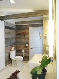 bathroom wraps. The Reclaimed Barn Siding Wraps All Of Master Bath\u0027s Walls As Well Box Bathroom H