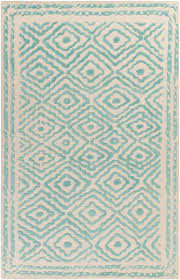 lacefield for surya ats 1004 teal wool rug