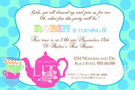 party invites examples info tea party birthday invitation barspol com