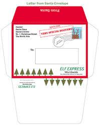 Santa Claus Printables Letter From Santa Envelope Template