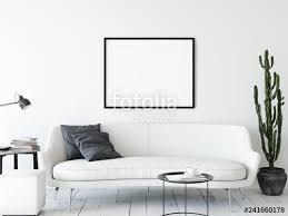 frame mockup living room interior wall mockup wall art 3d rendering 3d