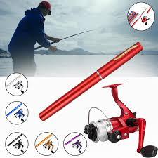 mini portable fish pen aluminum fishing rod pole reel w 100m line combos