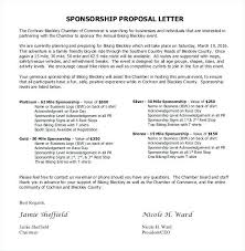 Sponsorship Email Template Formal Sponsorship Proposal