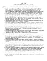 technical training instructor resume sample. sample resume for a ...