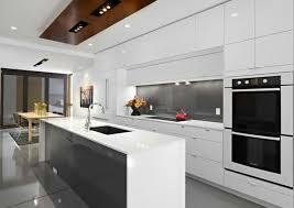 modern white kitchen island. Contemporary White Kitchen Modular Cabinets Island Built In Ovens Modern