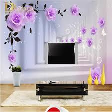 Purple Wallpaper Bedroom Purple Rose Wallpaper Promotion Shop For Promotional Purple Rose