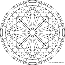 Small Picture Dont Eat the Paste Rose Windows Mandala Coloring Pages