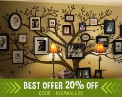 more colors tree wall decals family  on wall art decals family tree with family tree wall decal etsy
