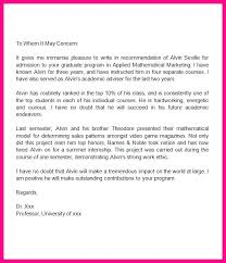 Sample Recommendation Graduate Reference Letter For Student