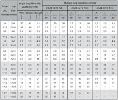 5 Wire Rope Breaking Strength Chart Factor Of Safety