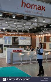 presenters work at homax furniture pany booth display at kiev international HMC0E2