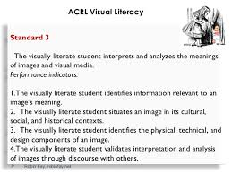 Visual Literacy Definitions Visual Literacy Standards And Metadata