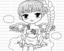 Small Picture Angel coloring Etsy