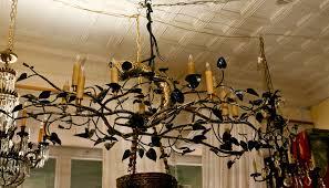 a original one of a kind cottonwood tree branch chandelier in steel