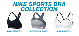 nike outfits. nike sports bra collection, low impact, medium high impact outfits