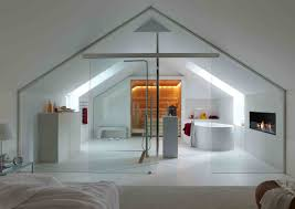 contemporary loft furniture. Bedroom And Contemporary Bath In A Loft Furniture R