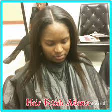 Middle Part Sew In Braid Pattern
