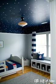 decorate boys bedroom. Delighful Bedroom Dark Blue Ceiling With Glow In The Dark Starsconstellations A Greige  Wall For Titus And Frankie On Decorate Boys Bedroom D