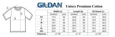 Gildan Size Chart The Odyssey Bookshop