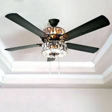 outdoor ceiling fans with remote control ceiling fan with remote caged crystal 5 blade ceiling fan