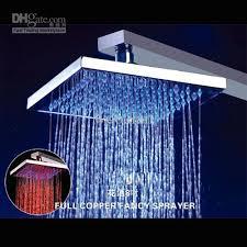 shower led lighting. 2018 8\u0027\u0027 Square Temperature Sensitive Led Light Shower Head Brass No Battery Rain 21001 From Wooalan, $60.37 | Dhgate.Com Lighting T