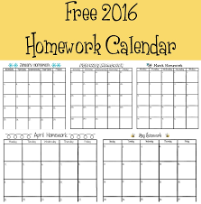 Homework Calendar Templates Gorgeous 44 Homework Calendar The Bearfoot Baker