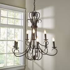 image chandelier lighting. Gaines 9-Light Candle-Style Chandelier Image Lighting