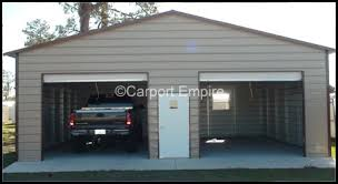 10x8 garage doorEnclosed Steel Garage with Double 10X8 RollUp Doors 30x26x10