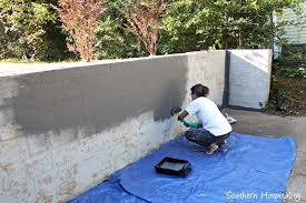 repair and paint a block wall southern hospitality