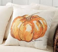 Captivating Painted Pumpkin Patch Outdoor Pillow   Pottery Barn. This Would Be Fairly  Easy To Replicate For Very Little Cost.