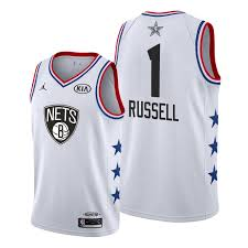2019 White Russell Men's All-star Jersey Nets D'angelo Brooklyn