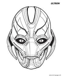 Ultron Avengers Marvel Coloring Pages Printable