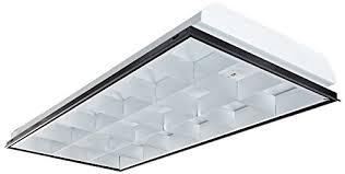 parabolic light fixtures office lighting. VaOpto VO-TF-24L18-3 T8 LED 3-Light, Parabolic Light Fixtures Office Lighting