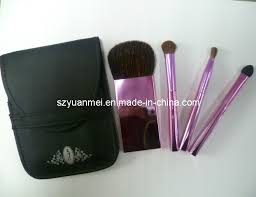 china 4 pcs makeup brush set with top