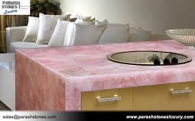 pink quartz countertop