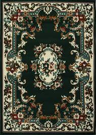 dark green traditional oriental 3x5 bordered medallion persian carpet rugs actual size 3 7