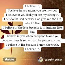 I Believe In I Believe In You Mom You Are My Sou English Quote