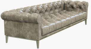 Leather Couch Restoration Restoration Hardware Italia Chesterfield Leather Sofa 3d Model Max