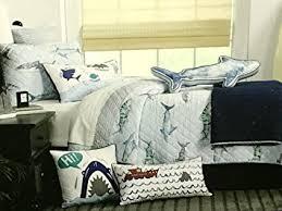 Amazon.com: BOAT HOUSE SHARKS QUILT SET - 3-pc FULL/QUEEN SIZE ... & BOAT HOUSE SHARKS QUILT SET - 3-pc FULL/QUEEN SIZE Adamdwight.com