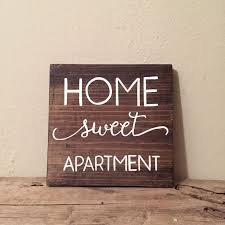 home sweet apartment wood sign