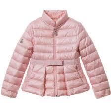 MONCLER Girls Pink Down  Mariame  Puffer Jacket1 ...