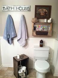 Rustic Bathroom Decor Diy Barn Wood Signpallet Shelf Rustic Bathroom