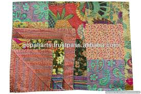 Multi Colored Quilt Bedding Multi Colored Quilt Bedding Quilts ... & ... Full size of Multi Colored Quilt Bedding Patchwork Kantha Quilt Blanket  Bedspread Throw Gudari Ralli India Adamdwight.com