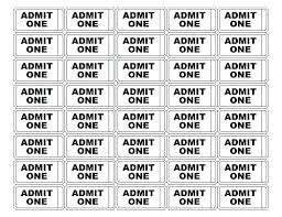 Admit One Ticket Template Free Simple Free Carnival Admission Ticket Template Printable Admit One