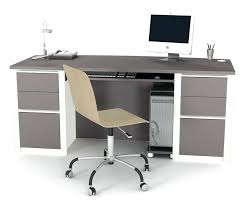 T Modern Home Office Desk Desks Storage