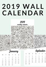 Free Printable 2019 Adult Coloring Calendar The Crazy Craft Lady