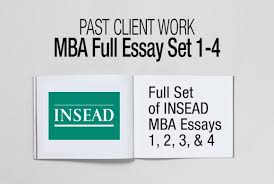 mba essay examples archives ⋆ fxmbaconsulting insead mba essays 1 4